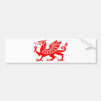ウェールズのドラゴン バンパーステッカー