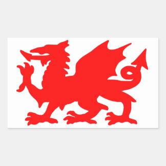 ウェールズのドラゴン 長方形シール