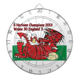 ウェールズのドラゴン、6人の国家のチャンピオン、ウェールズvイギリス ダーツボード