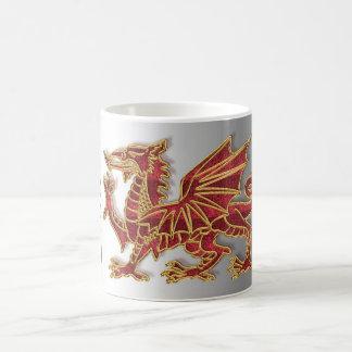 ウェールズのドラゴンSylish、白11のozのクラシックで白いマグ コーヒーマグカップ