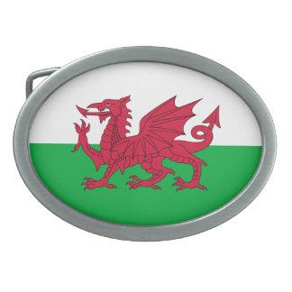 ウェールズのベルトの留め金の旗 卵形バックル