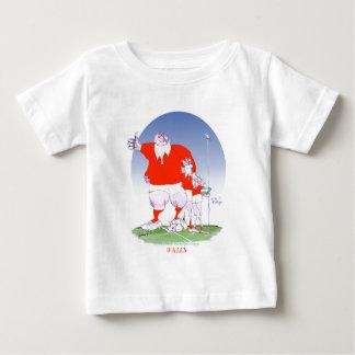 ウェールズのラグビーの仲間、贅沢なfernandes ベビーTシャツ