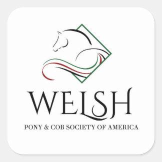 ウェールズの子馬及び穂軸のステッカー スクエアシール