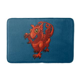 ウェールズの手がつけられなく小さいベビーの赤いドラゴンの漫画 バスマット