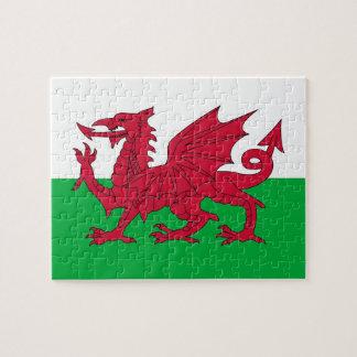 ウェールズの旗が付いているパズル ジグソーパズル