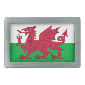 ウェールズの旗が付いているベルトの留め金 長方形ベルトバックル