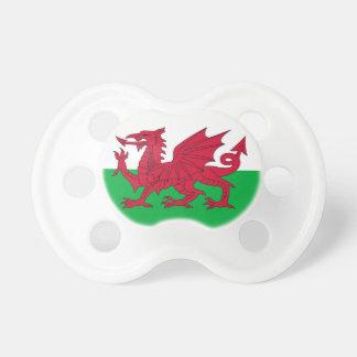 ウェールズの旗が付いている調停者 おしゃぶり