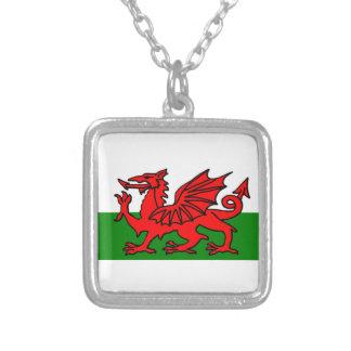 ウェールズの旗 シルバープレートネックレス