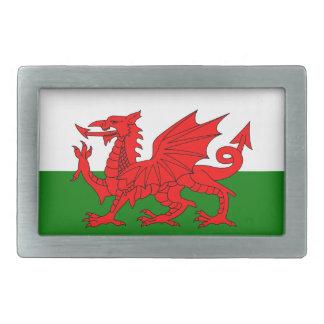 ウェールズの旗 長方形ベルトバックル