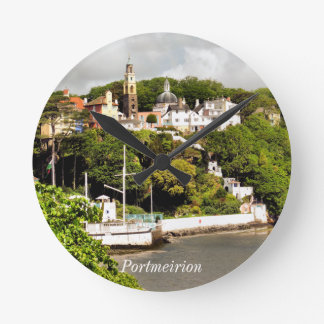 ウェールズの村 ラウンド壁時計