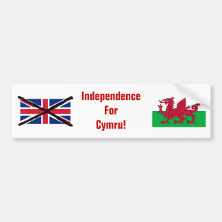 ウェールズの独立バンパーステッカー バンパーステッカー