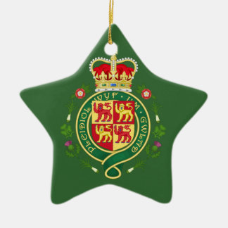 ウェールズの王室のなバッジ 陶器製星型オーナメント