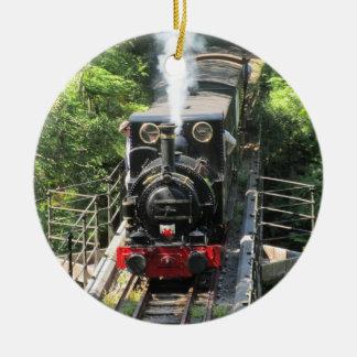 ウェールズの蒸気の列車 セラミックオーナメント