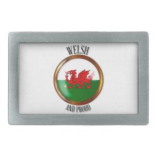 ウェールズの誇りを持ったな旗ボタン 長方形ベルトバックル