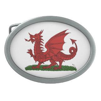 ウェールズの赤いドラゴン 卵形バックル