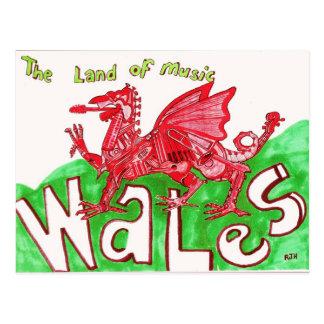 ウェールズの郵便はがき ポストカード