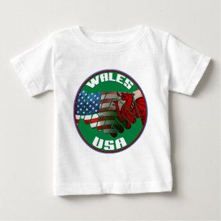 ウェールズ米国の友情 ベビーTシャツ