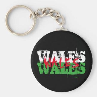 ウェールズ-ウェールズの旗の色 キーホルダー