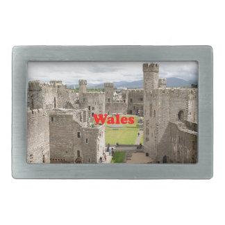 ウェールズ: Caernarfonの城、イギリス 長方形ベルトバックル