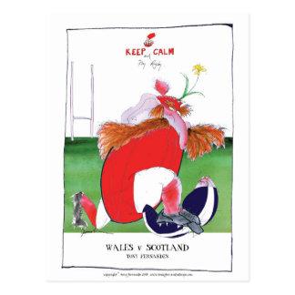 ウェールズvスコットランドの球-贅沢なfernandesからの… ポストカード