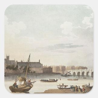 ウエストミンスターおよび橋の眺め スクエアシール