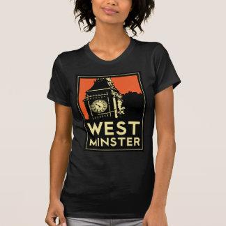 ウエストミンスターのレトロのアール・デコ旅行ポスター Tシャツ