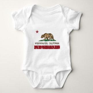 ウエストミンスターカリフォルニアの州の旗 ベビーボディスーツ