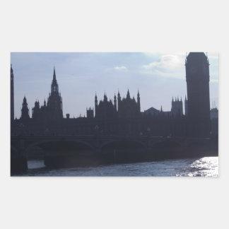 ウエストミンスター宮殿-議会の家 長方形シール