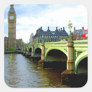 ウエストミンスター橋、ロンドンイギリス スクエアシール