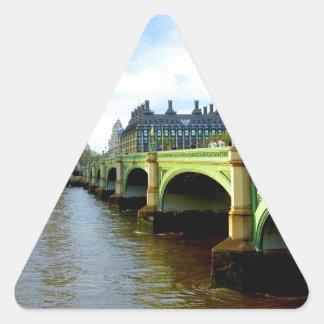 ウエストミンスター橋、ロンドンイギリス 三角形シール