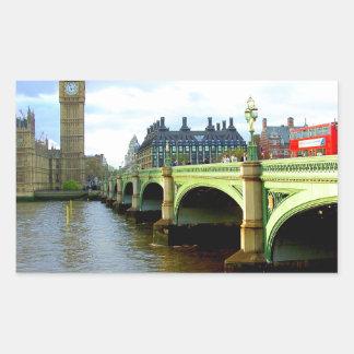 ウエストミンスター橋、ロンドンイギリス 長方形シール
