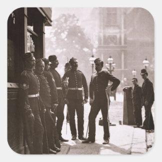 ウエストミンスター1876-77年の募集の下士官(木 スクエアシール