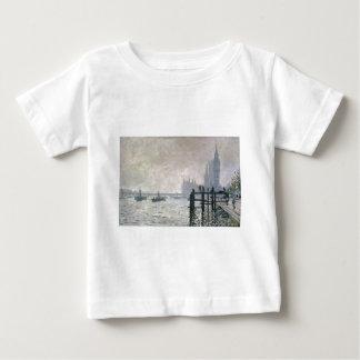 ウエストミンスター(1871年)の下のテムズ ベビーTシャツ