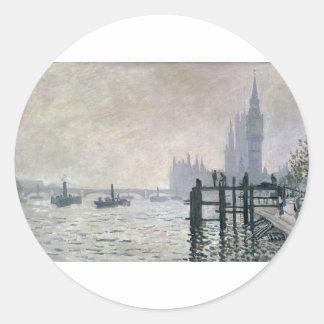 ウエストミンスター(1871年)の下のテムズ ラウンドシール