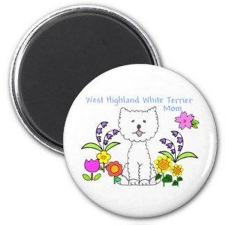 ウエスト・ハイランド・ホワイト・テリアのお母さんの磁石 マグネット
