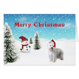ウエスト・ハイランド・ホワイト・テリアのクリスマスカード カード