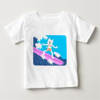 ウエスト・ハイランド・ホワイト・テリアのサーファーの女の子 ベビーTシャツ
