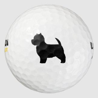 ウエスト・ハイランド・ホワイト・テリアのシルエット ゴルフボール