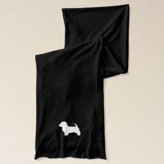 ウエスト・ハイランド・ホワイト・テリアのシルエット スカーフ