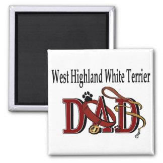 ウエスト・ハイランド・ホワイト・テリアのパパのギフト マグネット