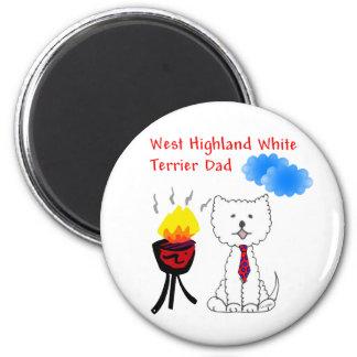 ウエスト・ハイランド・ホワイト・テリアのパパの磁石 マグネット