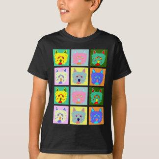 ウエスト・ハイランド・ホワイト・テリアのポップアート Tシャツ