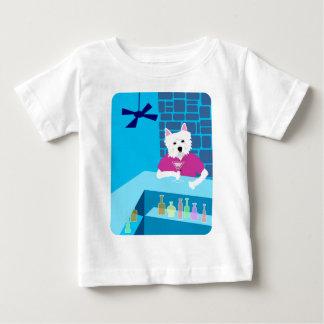 ウエスト・ハイランド・ホワイト・テリアのマルティーニのバー ベビーTシャツ
