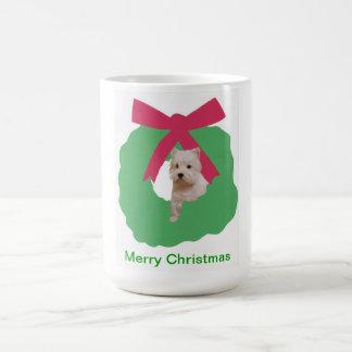 ウエスト・ハイランド・ホワイト・テリアの休日のリース コーヒーマグカップ