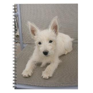 ウエスト・ハイランド・ホワイト・テリアの子犬のノート ノートブック