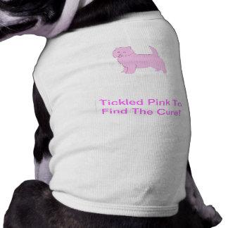 ウエスト・ハイランド・ホワイト・テリアの小犬のワイシャツ ペット服
