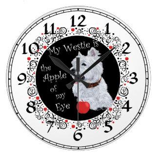 ウエスト・ハイランド・ホワイト・テリアの時計 ラージ壁時計