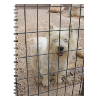 ウエスト・ハイランド・ホワイト・テリア犬のノート ノートブック