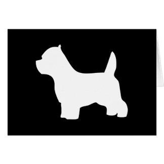 ウエスト・ハイランド・ホワイト・テリア犬のブランクのメッセージカード カード