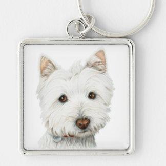 ウエスト・ハイランド・ホワイト・テリア犬 キーホルダー
